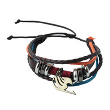 Cos Cosplay Anime Fairy Tail Lucy Natsu Dragneel Guild Sign Metal Wrist Bracelet