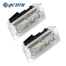 QCDIN for TESLA 2pcs 12 SMD Car LED OEM Interior Light Door Trunk Footwell Puddle Glove Box MODEL X S 3