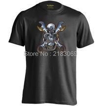Biker Engine Mechanic Mens & Womens Casual Summer Cotton T shirt Cool T Shirt