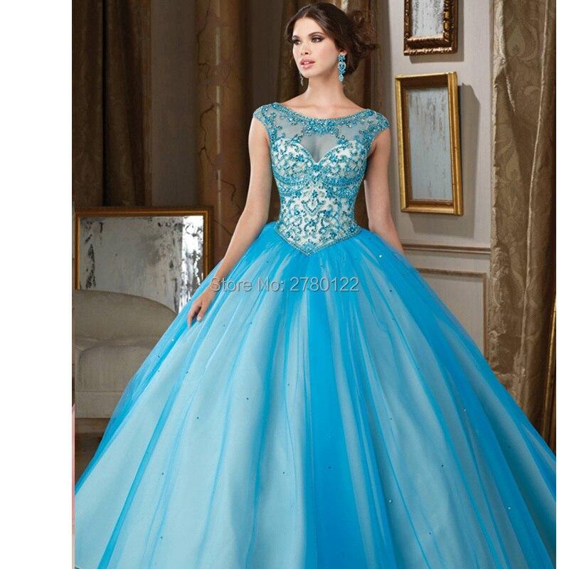 Robes de 15 Anos perle Tulle bouffantes robes de Quinceanera 2016 robes de Quinceanera pas cher doux 16 robes robe de Debutante
