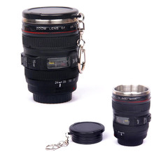 2018 Black Plastic Cup&Caniam Logo Mugs tazas cafe Coffee Lens Emulation Camera Mug Cup Beer Cup Wine Cup With Lid(China)
