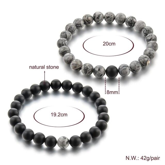 chicvie 2019 серый и черный браслет с подвесками браслеты для фотография