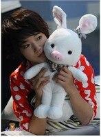 Freeshipping 80cm Pig Rabbit plush toy hot sale Christmas gift lover's gift