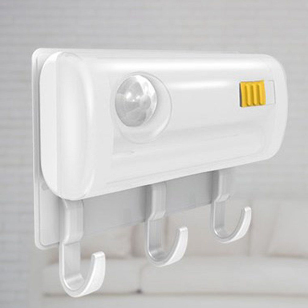 Magnetic Suction Sensor Light + Wall Mount Hook Multifunctional Infrared Induction Motion Detector Night LED Night Light New