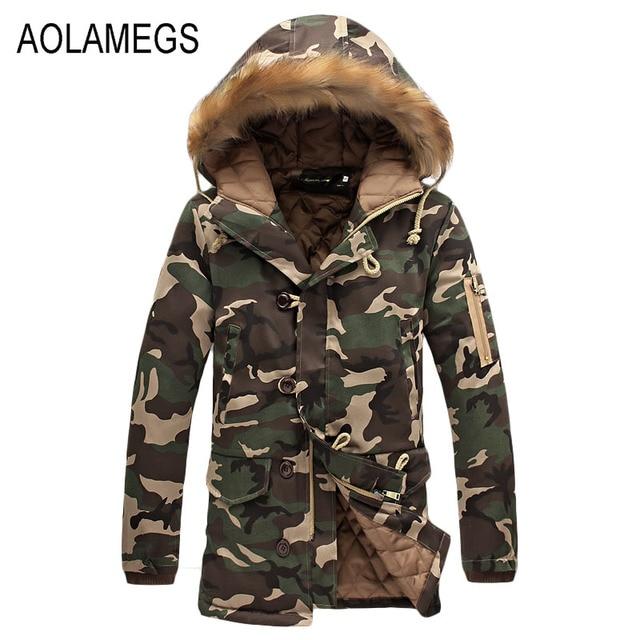 Aliexpress.com : Buy Aolamegs Camouflage Parkas Winter Jacket Men ...