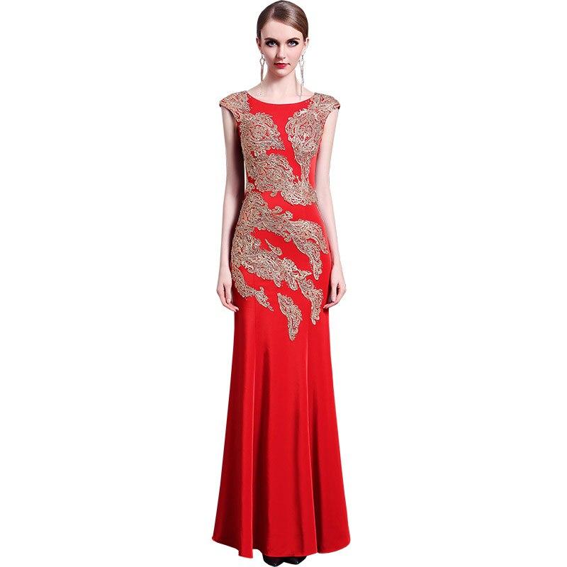 Femmes Gala Élégant Robes 28 Plage Proms Longue Z Rouge Soirées De Gratuating 2018 Up Pour Cérémonie Robe Broderie Parti Date qqSOXI