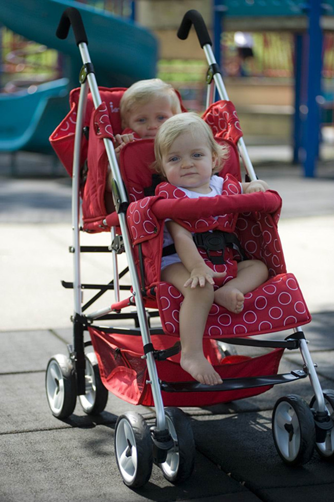 Double Stroller In Store Best Quality Pushchair For Twins Baby Boy And Girls Twins