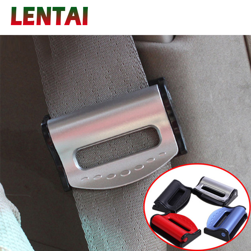 BLACK FORD SEAT ADJUSTABLE SAFETY BELT STOPPER CLIP CAR TRAVEL 2PCS