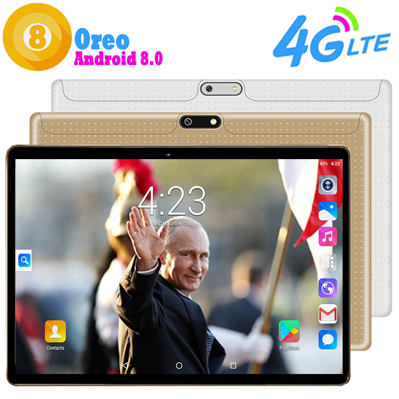 New Google Play Store Youtube 4G LTE 10 inch Android 8 0 Tablet PC 4GB 64GB