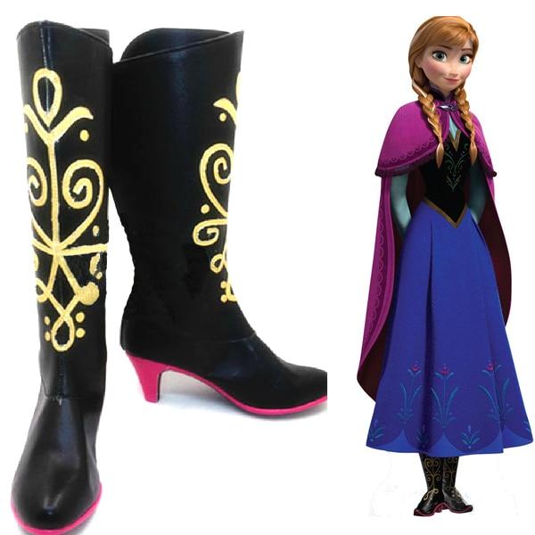 Cosplay Boots Shoes for Frozen Snow Queen Elsa