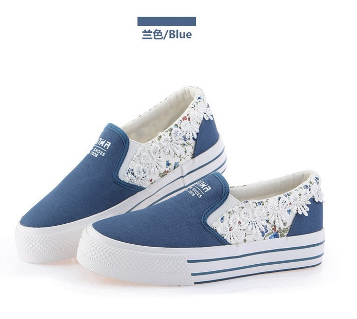 a55d3d110d US $40.0  Free shipping/ 2015 new fashion women sneakers flats canvas shoes  platform floral print lace slip on casual students shoes-in Men's Casual ...