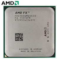 AMD FX 6100 CPU 3.3 GHz Six Core FX Series Processor FD6100WMW6KGU Socket AM3+ Procesador