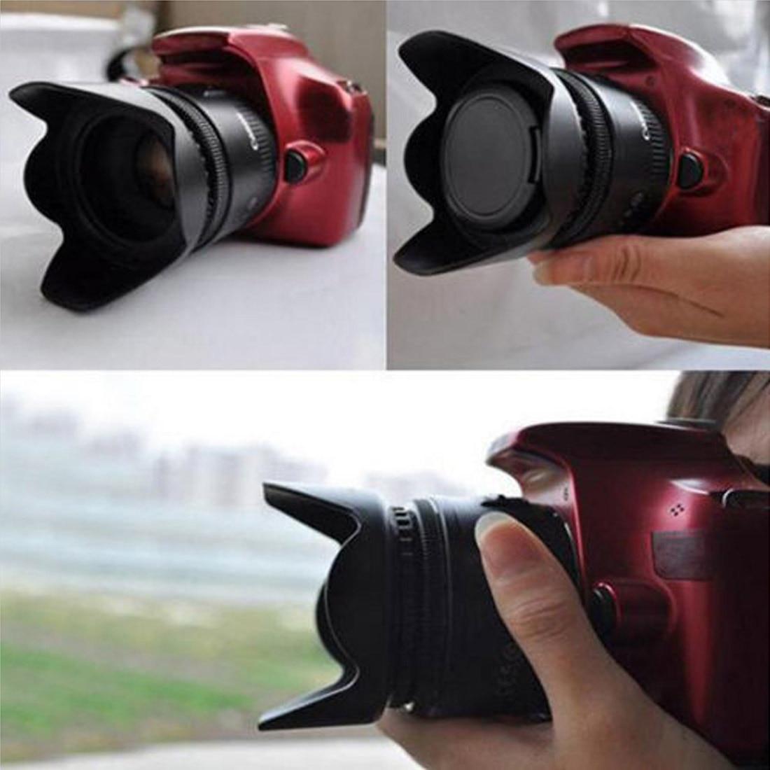 52mm Universal Professional Camera Lens Hood Flower Shape Screw Mount Lens Hood Shade Light Shield Sunshade in Camera Lens Hood from Consumer Electronics
