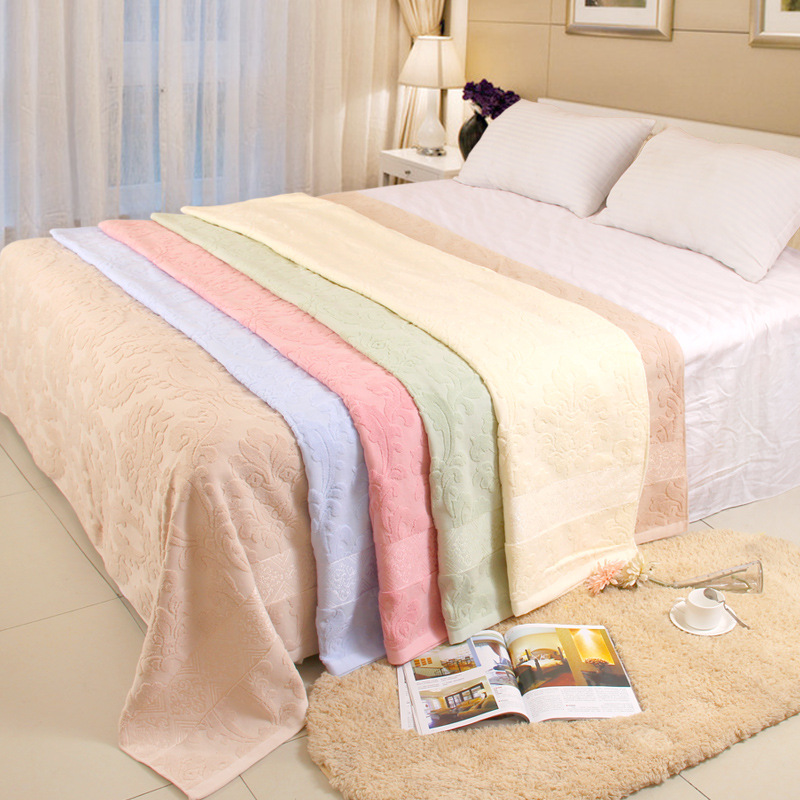 SRYSJS Pure Cotton Towels Blanket Double Layer Gauze Bed Sheet Air Conditioning Thin Summer Autumn Blankets