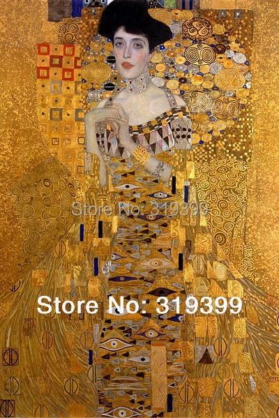 Reproduction de peintures à l'huile | Portrait d'adele bloch-bauer I (Detai) de Klimt, livraison rapide gratuite DHL, fait à la main, qualité musée, 100%