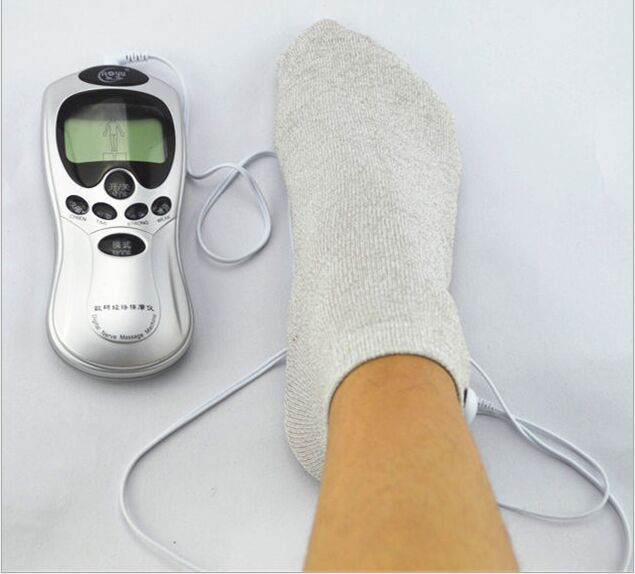 Foot Massage Socks Tens Electrode Socks Gloves Silver