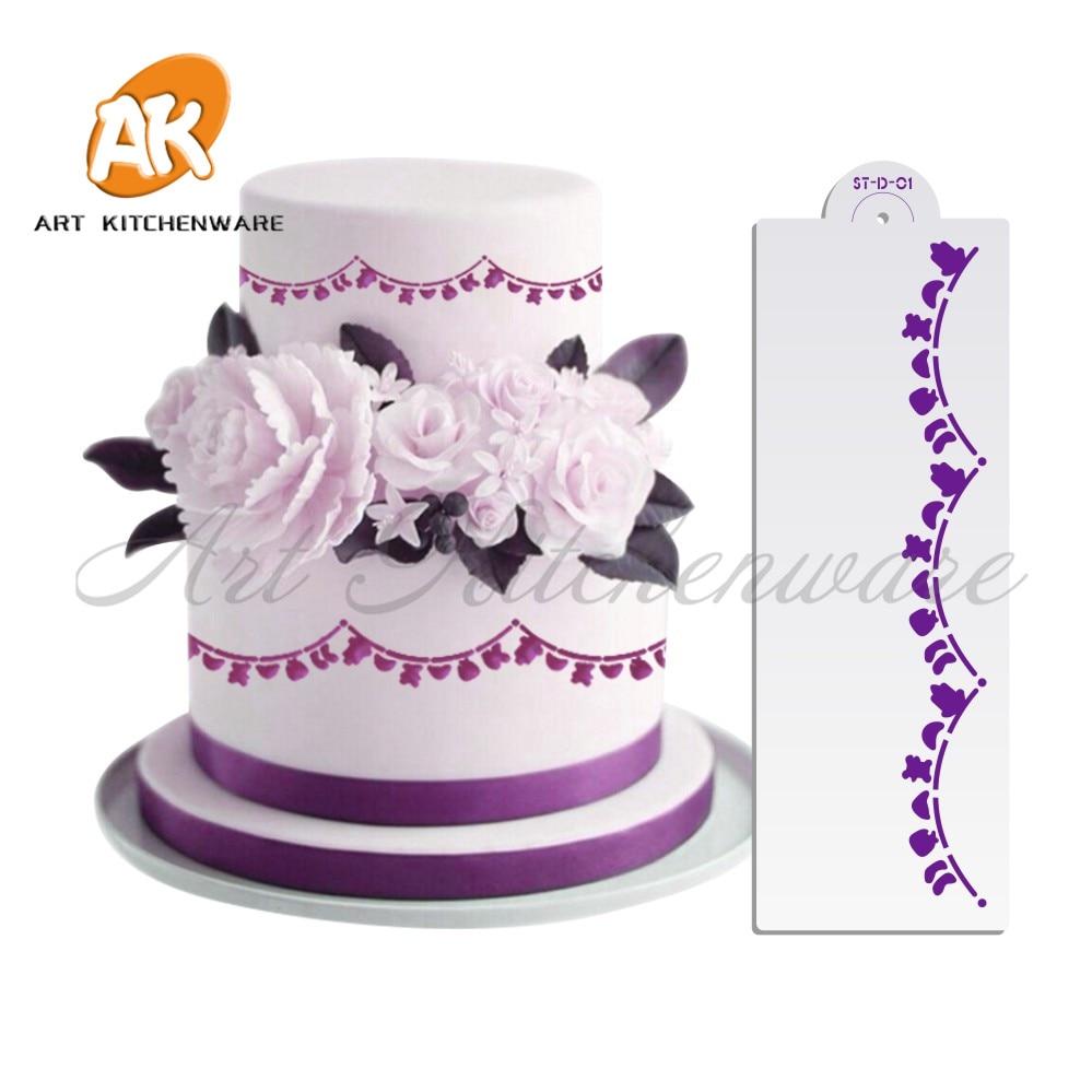 Baby Supplies Bunting Cake StencilPlastic Stencils Stencil TemplateBaby Party DecorationBaby Decorating Tools
