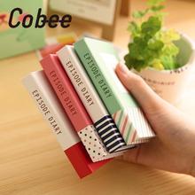 Cobee 100 страниц мини блокнот в твердом переплете 3-в-1 Липкие заметки ручка Pocketbook карманный блокнот для заметок