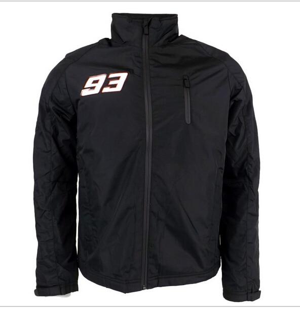 2016 Marc Marquez 93 Logo Moto GP Jacket Black Waterproof Panel Soft Shell Jacket  nj