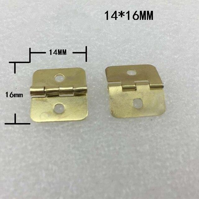 Bulk Yellow Metal Cabinet Door Luggage Mini Hinge2 Holes Decor