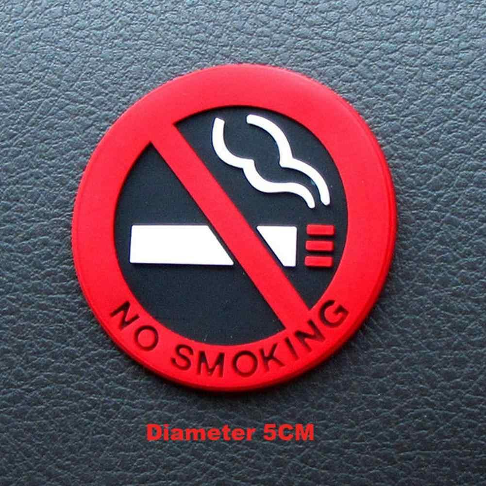 Tidak Merokok Peringatan Mobil Stiker Bulat Tanda Merah Vinyl Sticker Mudah untuk Tetap Menggunakan untuk Kaca Mobil Bisnis Oleh Universal aksesoris