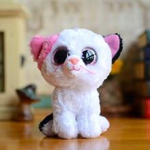 New Ty Beanie Boos Kids Plush Toys Big Eyes Soft Muffin White Cat Lovely Girls Gifts Kawaii Baby Cute Stuffed Animal Boys Dolls