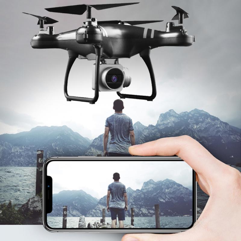 PARA HJMAX RC Quadcopter Toy Kid Treinamento Ceia Resistência Zangão Wi-Fi Embutido 1080 P Câmera HD FPV Zangão RC Branco preto