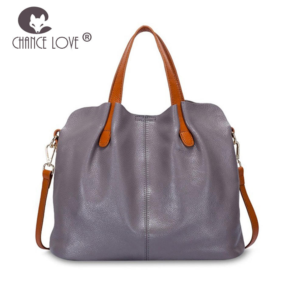 Chance Love Bag female Women 100% genuine leather handbags crossbody bags women shoulder bags soft leather bolsa feminina Tote women genuine leather casual real cowhide tote bags vintage soft small trunk shoulder handbags solid tassels bolsa feminina