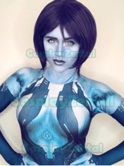 Halo Cortana Cosplay Costume Video Game Girl Cortana Custom made Zentai Bodysuit