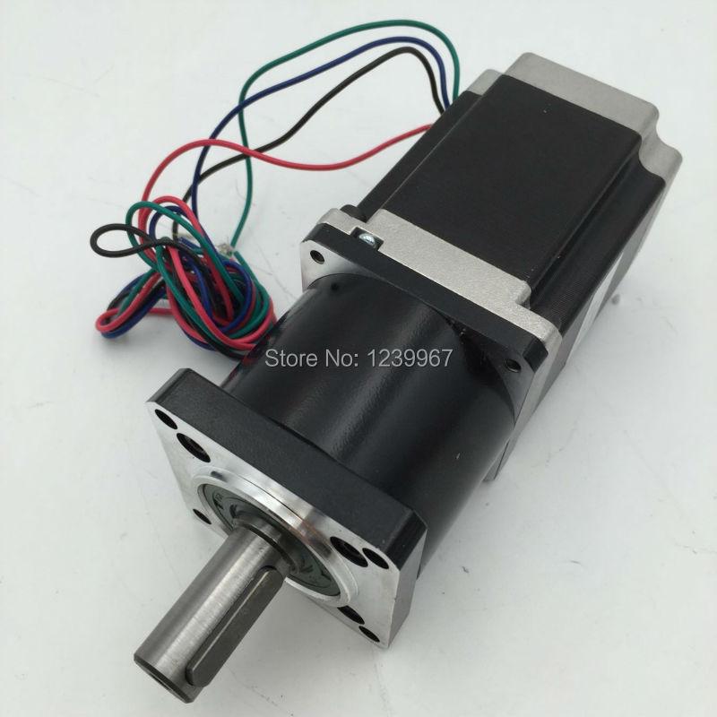 Ratio 5:1 Planetary Gearbox Nema23 Stepper Motor L56mm 4A Speed Reducer nema23 planetary gearbox stepper motor gear ratio 15 20 25 30 40 50 100 1 nema23 motor length 112 mm