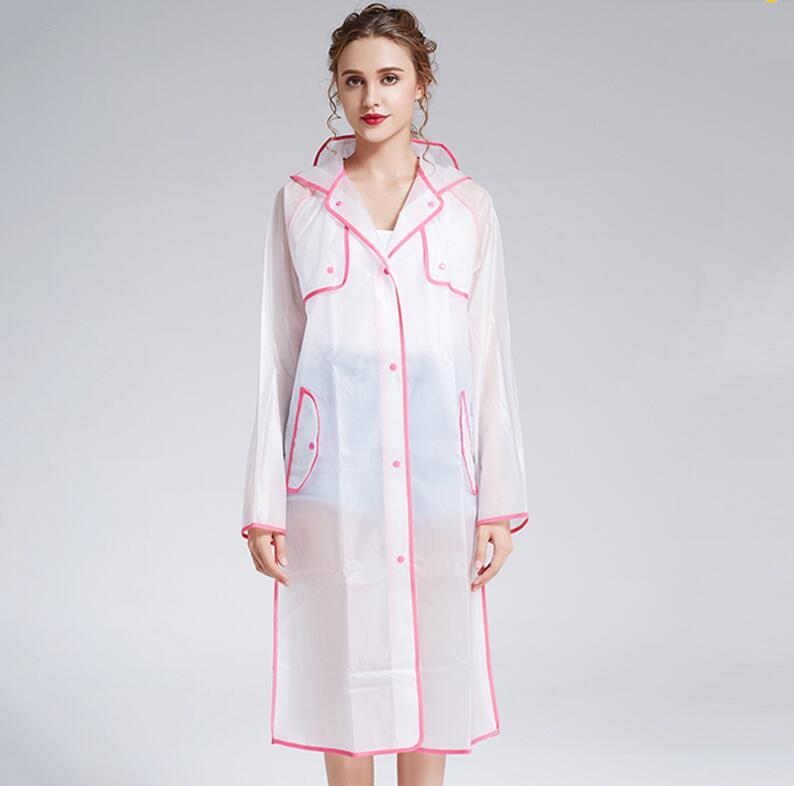 Neue Vier Jahreszeiten 4 Farbe Mit Kapuze Einreiher Transparent Bequem Praktische Regenmantel Frauen Mode Flut