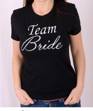 Free shipping team bride t shirt letter printed casual t for Team t shirt printing
