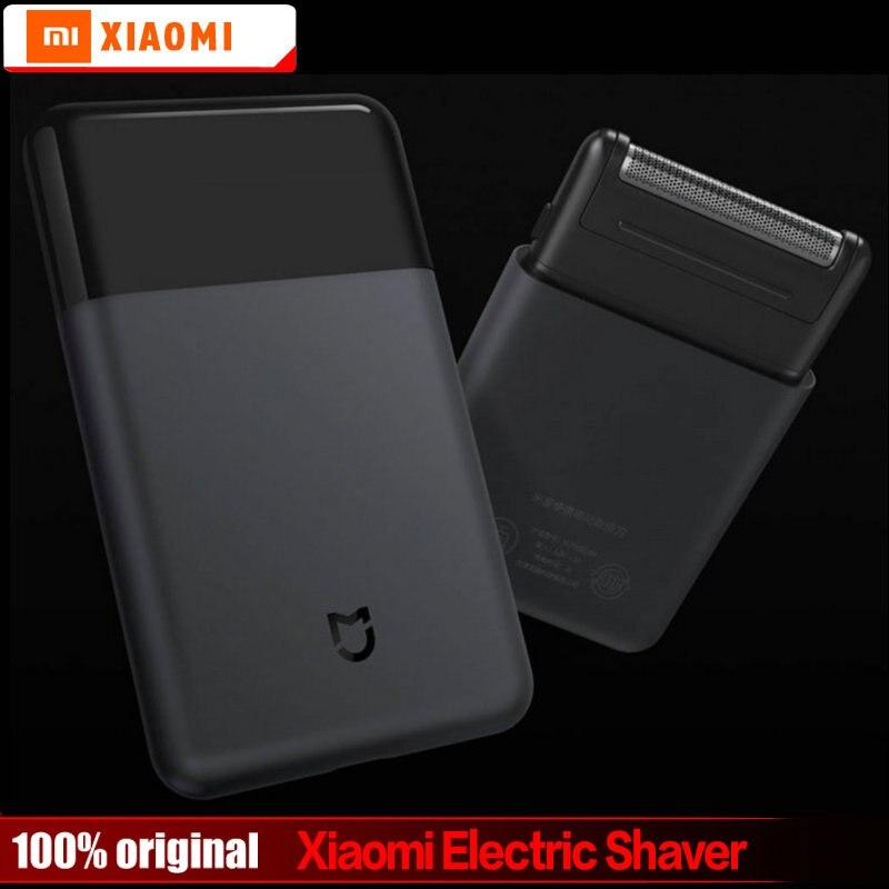 Original Xiaomi Mijia Mini Portable Electric Sh-aver Japan Steel Cutter Head Metal Body USB Type-C Big Battery Portable Razor
