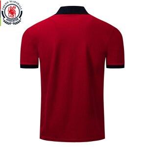 Image 2 - Fredd Marshall 2019 nowy 100% bawełna koszulka Polo mężczyźni Casual Business Solid Color Polo wysokiej jakości koszulka Polo z krótkim rękawem koszule 038