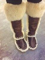 Chmaori Лидер продаж 2018 зимняя женская обувь Мех животных Зимние ботинки на плоской подошве модная одежда для девочек Повседневная обувь В лос
