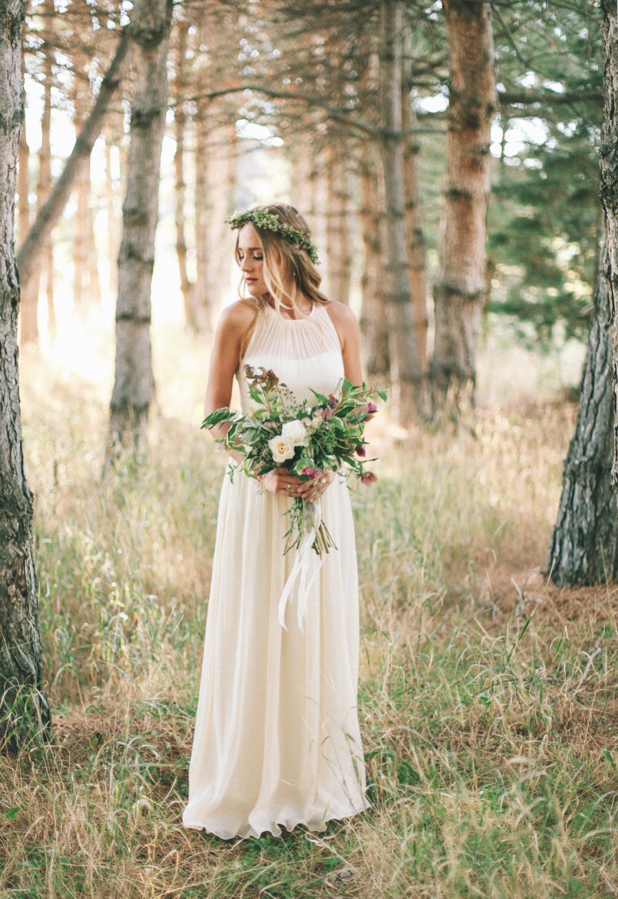 Summer Style Wedding Dresses A-Line Jewel Neckline Sleeveless Off The Shoulder See Through Back Boho Wedding Dress Mariage 2019