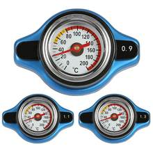 Grote Hoofd 0.9Bar/1.1Bar/1.3Bar Racing Temperatuurmeter Auto Thermometer Radiator Cap Cover Water Temp Meter(China)