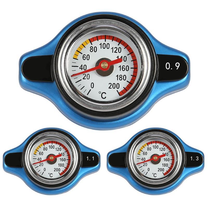 Grande tête 0.9Bar/1.1Bar/1.3Bar jauge de température de course voiture thermomètre bouchon de radiateur couverture compteur de température d'eau