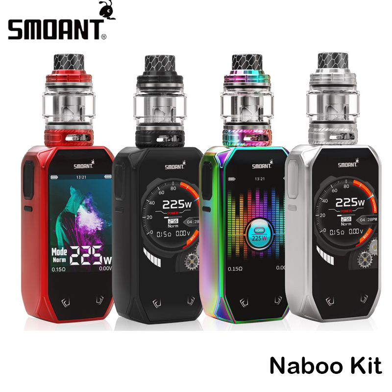 Original Smoant Naboo Kit 225W Naboo Box MOD Vape 2 4 Inch Colorful Screen With Naboo