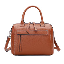 2019 Boston Women Leather Handbag Brand Designer Genuine Leather Women Messenger Bag Small Real Leather Lady Tote Shoulder Bag