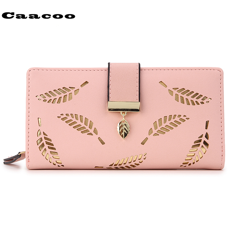 carteras mujer Women Wallets Wallet Leather Clutch Women Card Holder Purse Lady Long Hand bag purse female Leaf Bifold fashion elegant women long leather wallet portable multifunction solid color purse hot female change purse lady clutch carteras