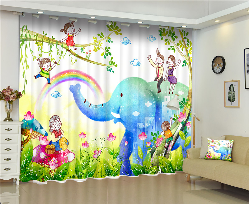 2017 Cartoon style 3D Blackout Curtains For Living room Bedding room Decor Tapestry Wall Carpet Drapes Cotinas2017 Cartoon style 3D Blackout Curtains For Living room Bedding room Decor Tapestry Wall Carpet Drapes Cotinas