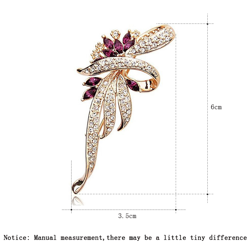 SHUANGR Luxury Crystal Flower Brooch Lapel Pin Rhinestone Jewelry Women Wedding Hijab Pins Large Brooches For Women brooches 4