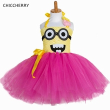 summer minions lace tutu dresses princess children girlu0027s birthday party outfits toddler halloween costumes teenager clothes