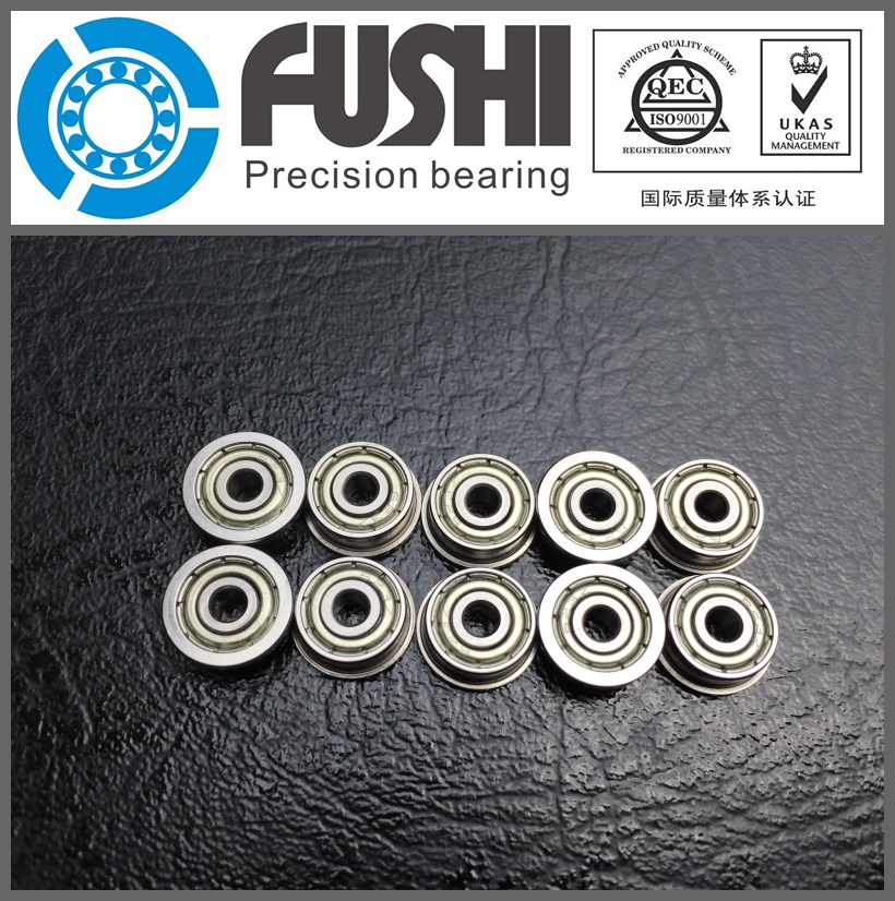 F624ZZ Flange Bearing 4x13x5 mm ABEC-1 ( 10 PCS ) F624 Z ZZ Flanged Ball Bearings mf63zz flange bearing 3x6x2 5 mm abec 1 10 pcs miniature flanged mf63 z zz ball bearings