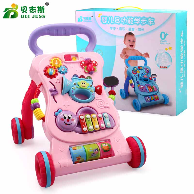 BEI JESS indoor Multifunction Baby Ride on car trolleys with Musical board toys Learn to Newborns growing up Walk CartsBEI JESS indoor Multifunction Baby Ride on car trolleys with Musical board toys Learn to Newborns growing up Walk Carts