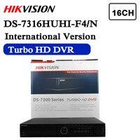O envio gratuito de versão Em Inglês DS 7316HUHI F4/N Turbo HD DVR 16ch 3MP 4SATA suporta HD TVI/analógico/IP câmera triplo híbrido|cameras camera|camera ip|dvr hd -