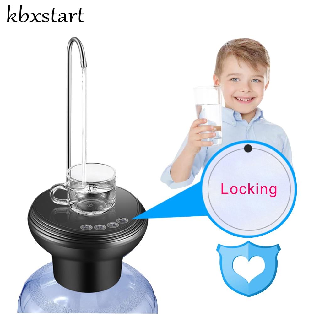 цена Automatic Electric Portable Water Pump Dispenser Gallon Drinking Bottle Switch Cold Water Drinking Dispensador De Agua Faucet в интернет-магазинах