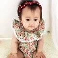Niñas bebés ropa de verano Floral de La Princesa bebé del mameluco del bebé ropa infantil ropa recién nacido