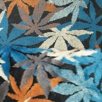 Ultra Thick Maple Leaf Jacquard Plush Fabric Fashion Coat Handmake DIY Faux Fur